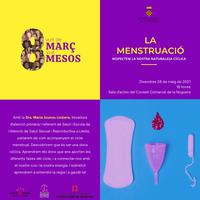 """Conferència """"LA MENSTRUACIÓ"""" amb la Sra. Maria  Jounou Llobera"""