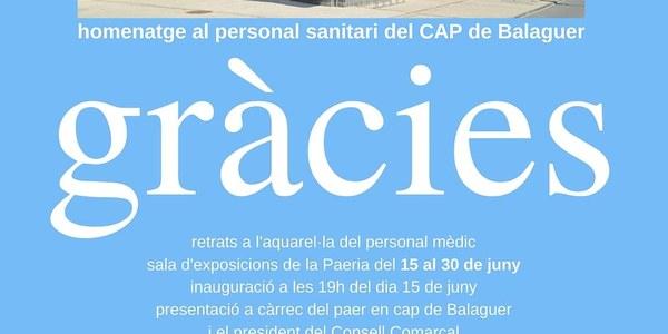Homenatge al personal sanitari del CAP de Balaguer