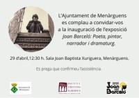 """Inauguració de l'exposició """"Joan Barceló: poeta, pintor, narrador i dramaturg"""""""