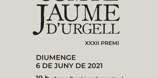 XXXII Premi compte JAUME d'URGELL