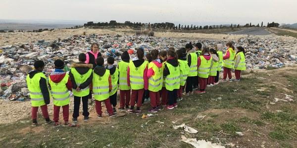 1a visita escolar del 2018 a la deixalleria i al dipòsit controlat de residus de la Noguera