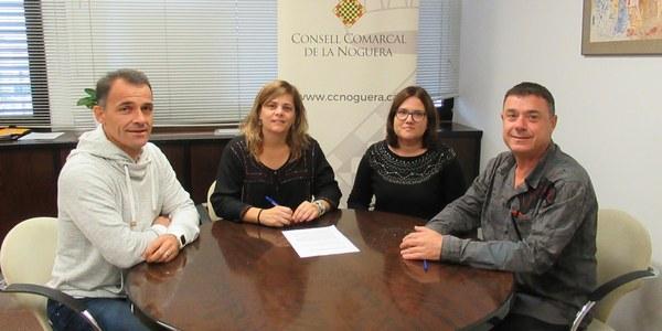 Acord de col·laboració entre el Consell Comarcal de la Noguera i Càritas Diocesana d'Urgell per establir un protocol de coordinació