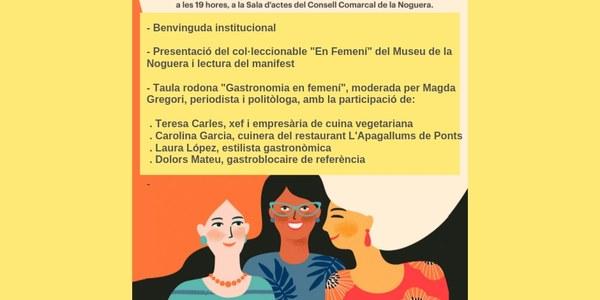 Acte institucional de l'Ajuntament de Balaguer i el Consell Comarcal de la Noguera pel Dia de la Dona