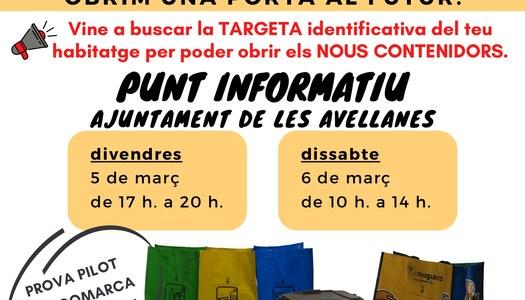 Les Avellanes, pionera a la Noguera amb la prova pilot de recollida de residus amb contenidors tancats