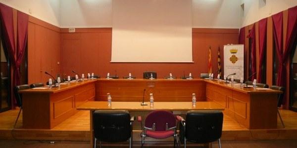 Sala d'actes on es fan els plens del Consell Comarcal de la Noguera