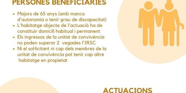 Oberta la convocatòria d'ajuts per a l'adequació d'habitatges de persones grans