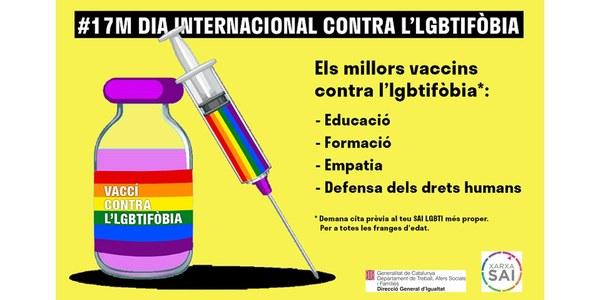Declaració amb motiu del Dia Internacional contra l'Homofòbia