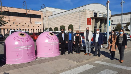 Ecovidrioi el Consell Comarcal de la Noguera presenten la campanya solidària 'Recicla Vidre per elles' a favor de la investigació del càncer de mama