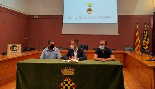 El Consell Comarcal de la Noguera rep a Arnau París, guanyador de la darrera edició del concurs MasterChef
