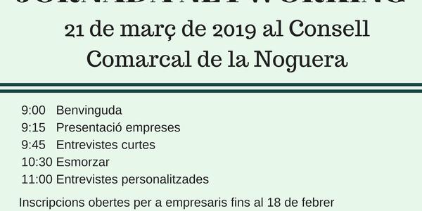 """El jovent de la Noguera es podrà """"vendre"""" a les empreses el proper 21 de març en la Jornada de Networking"""