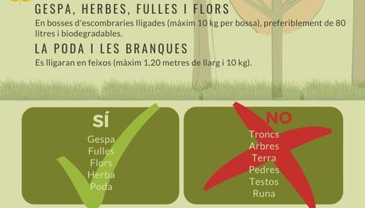 Nou servei de recollida de restes vegetals a la Noguera per a particulars