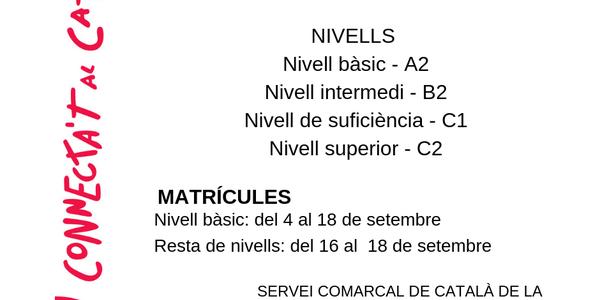 Obert el període de matrícula per als cursos de català del CPNL