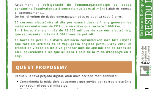 Participem a la Setmana Europea sobre la prevenció de residus
