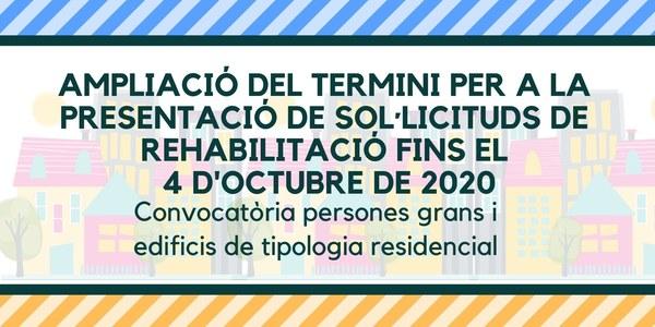 S'amplia el termini per sol·licitar els ajuts per rehabilitar habitatges de gent gran i edificis de tipologia residencial