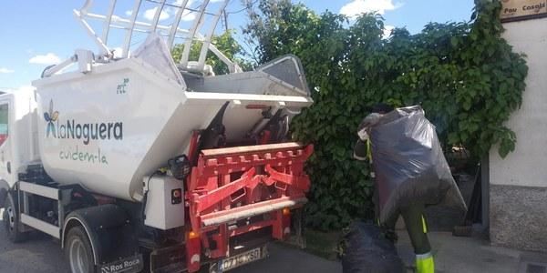 El servei de recollida de restes vegetals per a particulars a la Noguera ha recollit 8.000 kg en 6 setmanes