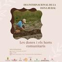 """Trobada """"Les dones i els Horts Comunitaris"""" per celebrar el Dia Internacional de la Dona Rural"""