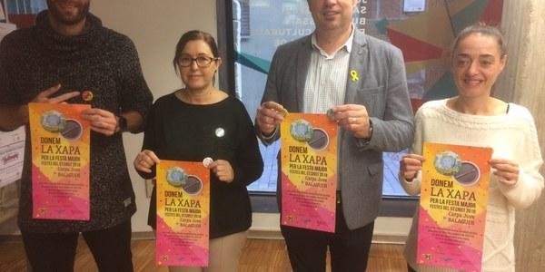 """Balaguer posa en marxa la segona edició del projecte """"Dona la xapa"""" per lluitar contra el consum d'alcohol durant la Festa Major"""