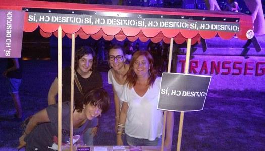 L'Oficina Jove participa a l'estand mòbil de l'Associació Antisida a la Transsegre