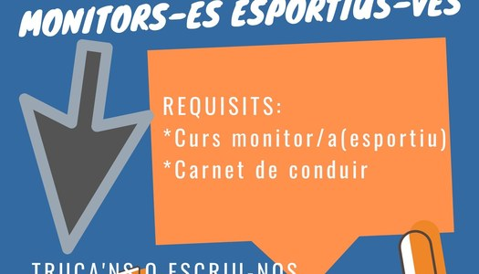 Oferta de feina de monitor/a d'esports