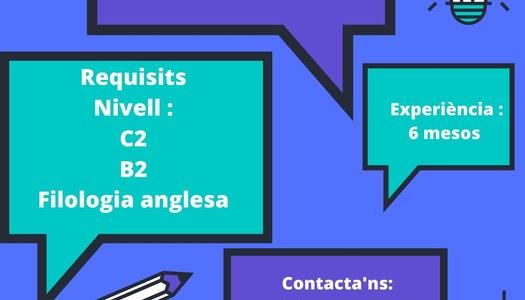 Oferta de feina per fer classes d'anglès