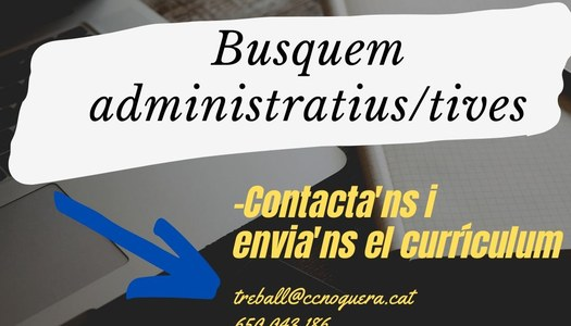 Oferta de treball d'administratiu/iva per al Networking