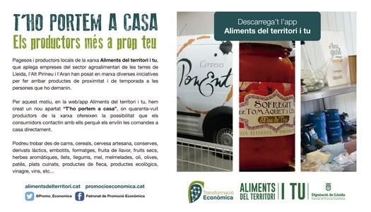 El Patronat de Promoció Econòmica inicia la campanya 'T'ho portem a casa', per apropar els productes de proximitat i de temporada a la ciutadania