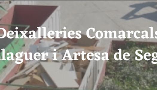 Deixalleries comarcals: Balaguer i  Artesa de Segre