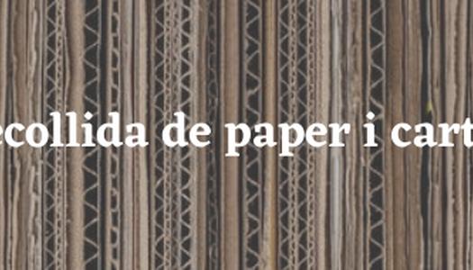 Recollida de paper i cartró als comerços i als polígons