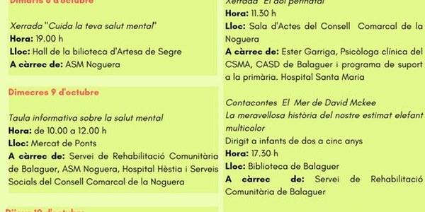 Setmana per la Salut Mental-Balaguer