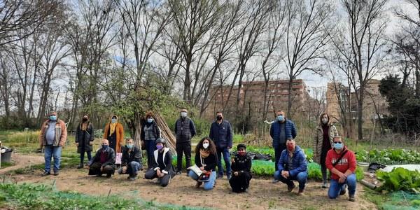 Representants del Consell Comarcal han visitat els horts on han coincidit amb alguns dels hortolans i les hortolanes