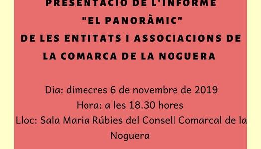 El Punt de Voluntariat dels Serveis Socials de la Noguera presenta l'informe del Panoràmic de les entitats de la comarca