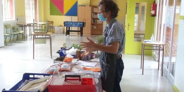 """Jordi Pedrós, impartint el taller """"Autosuficiència en la Llar"""""""