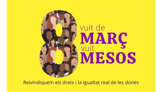 """La Noguera reivindica la igualtat de les dones amb la campanya """"8 de març, 8 mesos"""""""