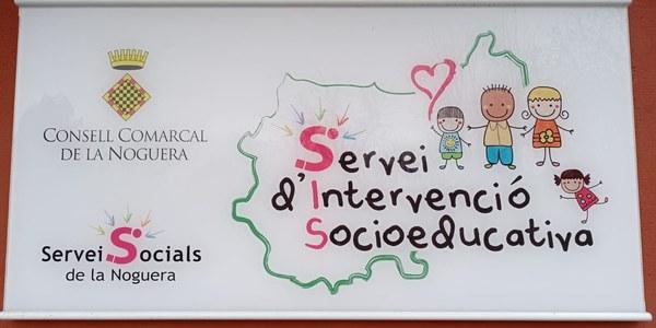 Cartell del Servei d'Intervenció Socioeducativa de la Noguera