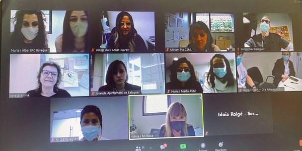 Participants a la sessió virtual de la Taula de Salut Mental de la Noguera