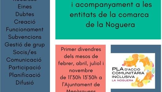La tècnica comunitària dels Serveis Socials del Consell Comarcal de la Noguera es trobarà amb les associacions i entitats de tots els municipis de la Noguera